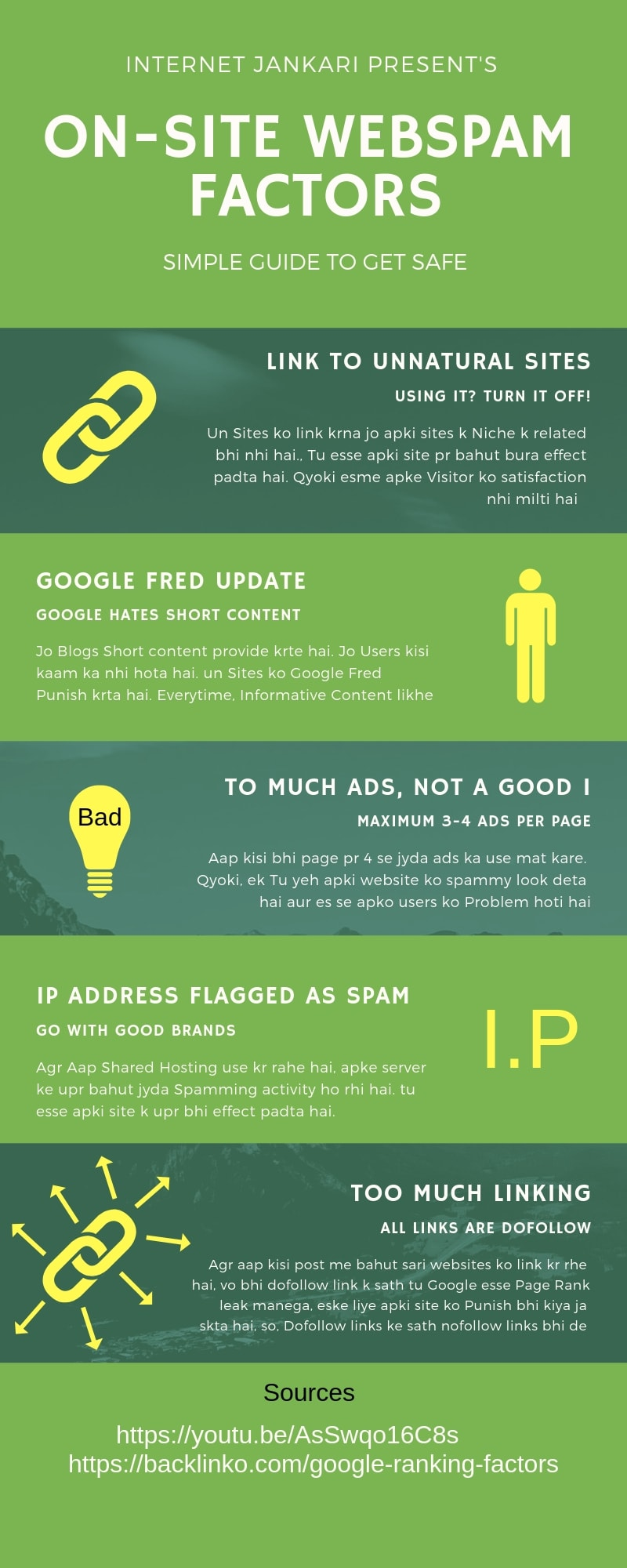 On-Page SEO Webspam Factors, On-Page SEO me kya na kare, Things to avoid in SEO