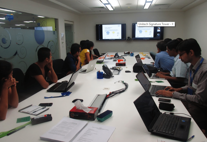 workers working at Google gurgaon office